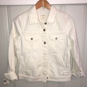 NWT J Crew white denim jacket